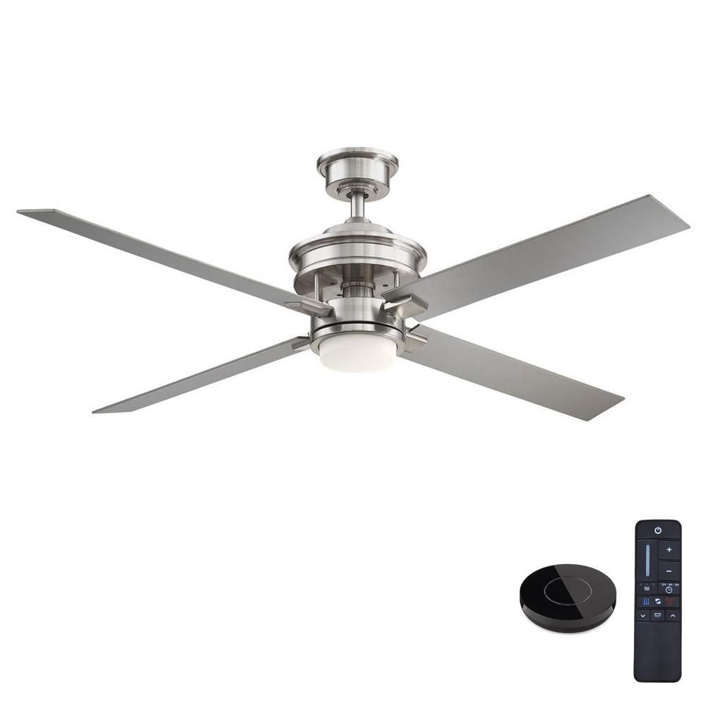 Home Decorators Collection Lincolnshire 60 In Led Brushed Nickel