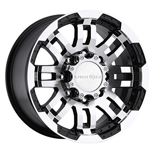 vision warrior 375 gloss black machined face wheel 17x8 5 8x165 Mid-Engine Design vision warrior 375 gloss black machined face wheel black vision rwd warrior with a offset and a 126 hub bore