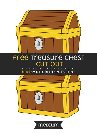photo about Printable Treasure Chests identify Free of charge Treasure Upper body Minimize Out - Medium Dimensions Printable