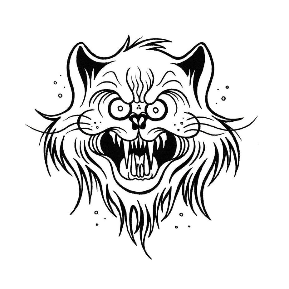 Wild Cat Ink Sharpie Sketch Cartoon Flash Draw Drawing