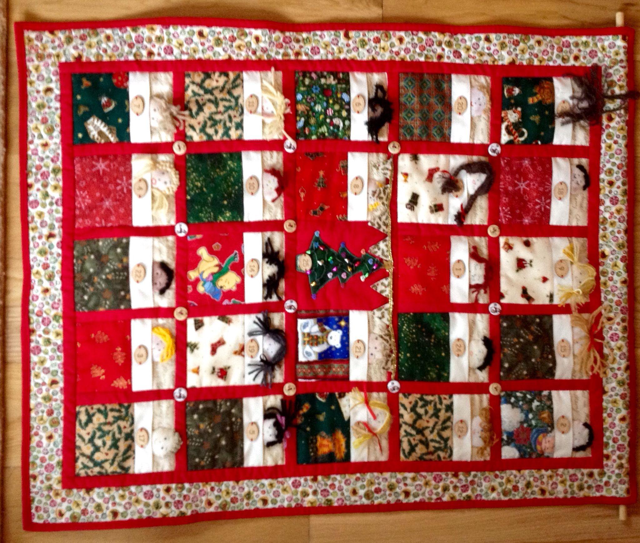 Book Advent Calendar Ideas : Advent calendar the pattern was taken from kirstie