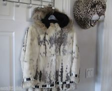 Eskimo Seal Skin Coat Alaska Native Indian Lamb Rabbit Fox Fur Jacket