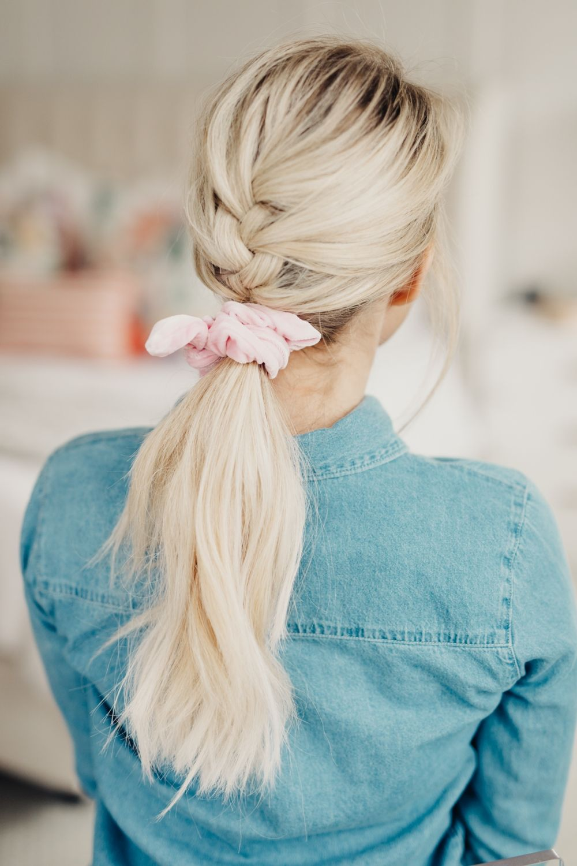 Pin by Rachel Grohn on Hair Scrunchie hairstyles, Long