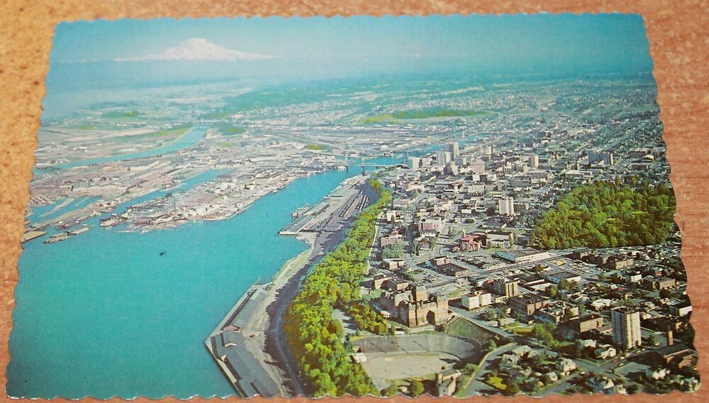 Details about 70s continental pc aerial view of conconully