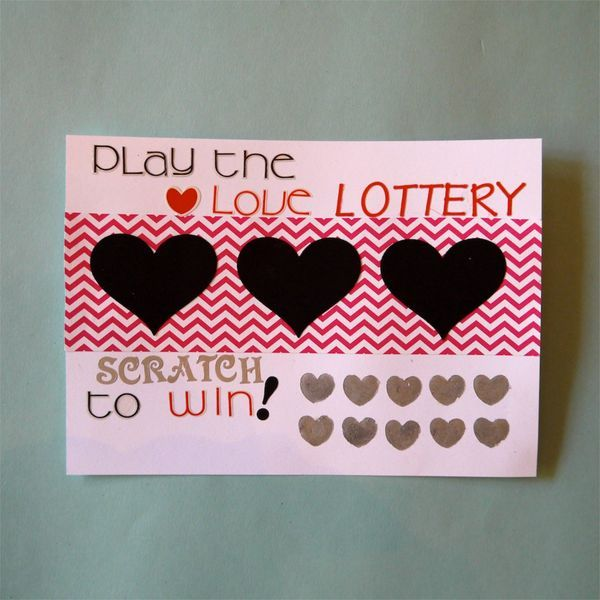 DIY ScratchOff Valentines Day Card – Scratch off Valentine Card