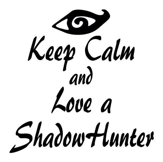 Keep Calm & Love a Shadowhunter Iron On Tshirt Transfer