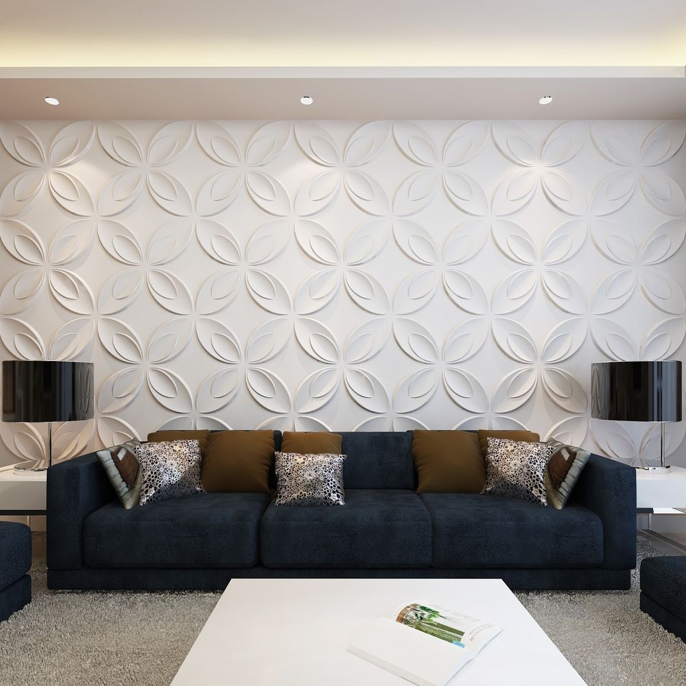 6m² Wandpaneele 3D Wandverkleidung Wanddeko Deckenpaneel 0,3x0,3m 66 Paneele