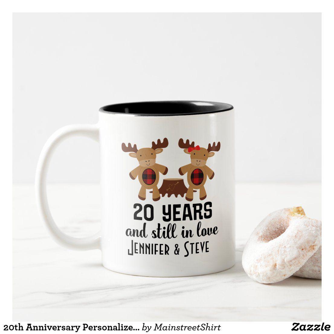 20th Anniversary Personalized Couples Mug Gift Zazzle