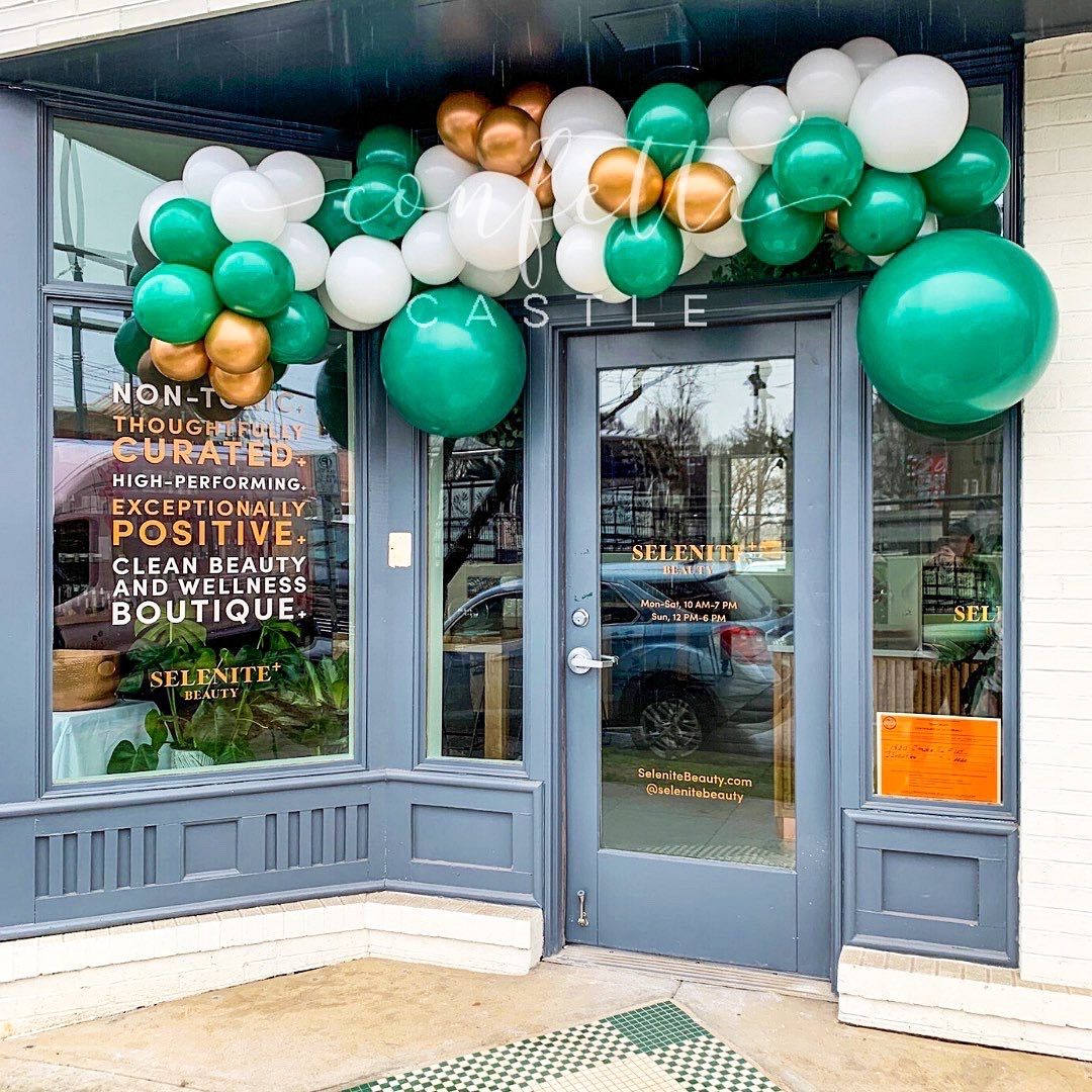 Selenite Grand Opening Balloons Grand Opening Party Grand Opening Store Design Boutique