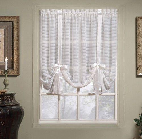 Curtain Bath Outlet Silhouette Stripe Sheer Panel Dekor Okon