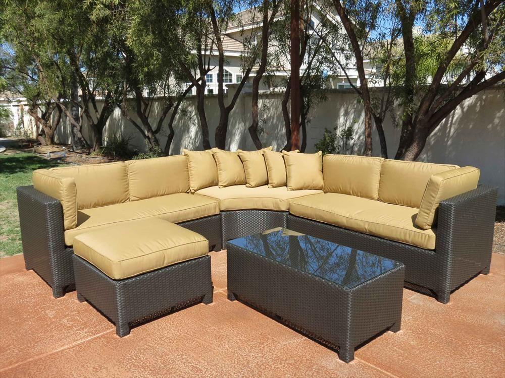 BuildDirect®: Patio Furniture Patio Furniture The Ritz Sunbrella Series 5  Piece Sectional Set.
