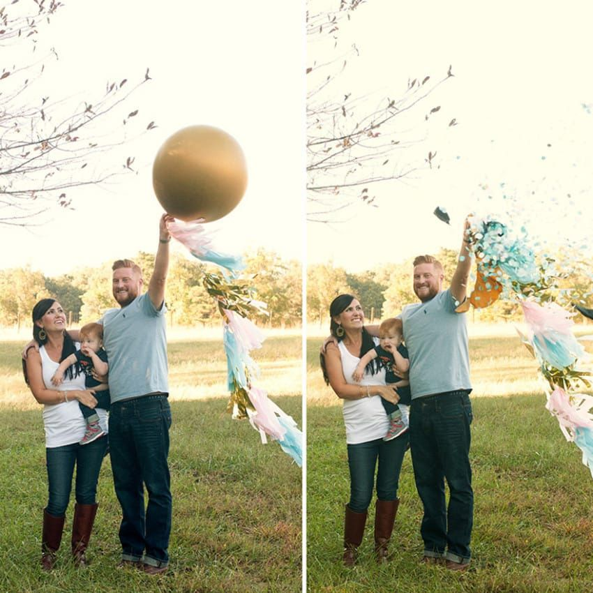 14 Creative Baby Gender Reveal Ideas - MomCanvas | Creative gender reveals, Gender reveal pictures, Gender reveal balloons