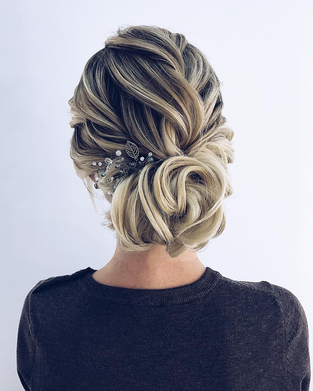 Textured wedding updo hairstyle ,messy updo wedding hairstyles ,chignon ,swept back wedding hairstyles, messy updo hairstyles ,bridal updo #wedding #weddinghair #weddinghairstyles #hairstyles #updo #promhairstyle