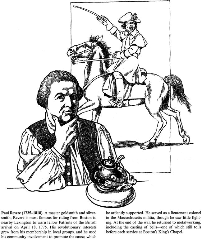 Paul Revere History Printable With Images Colonial America