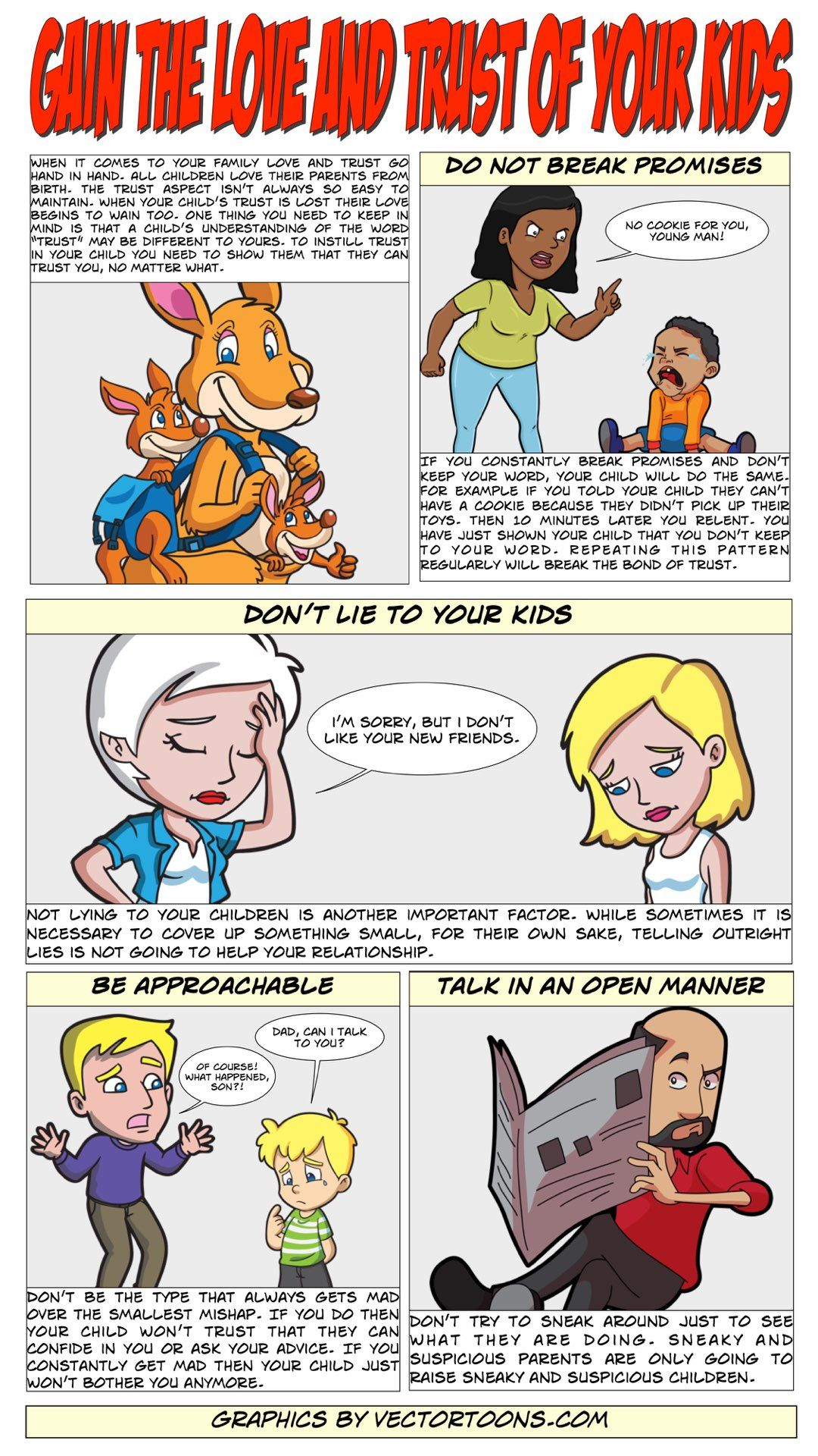 Gain The Love And Trust Of Your Kids Comic Cartoon