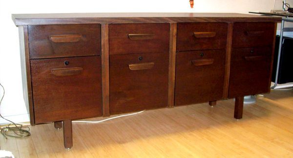Modern Dark Wood Credenza : 8 drawer dark wood credenza $75 in downtown denver modern finds