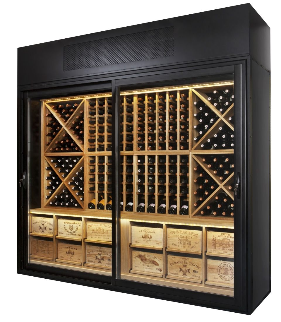 The Wine Wall - Solid Oak Racking Option  sc 1 st  Pinterest : wine wall cabinet - Cheerinfomania.Com