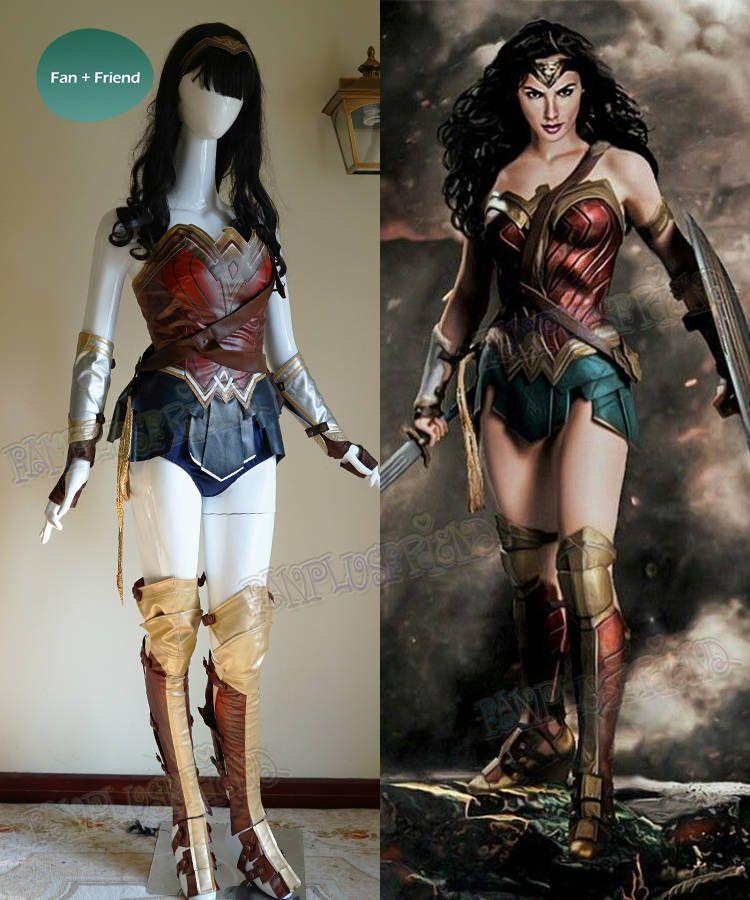 Mujer Maravilla Cosplay mujeres adultas cuero armadura corsé ... c3298bd6d3a9