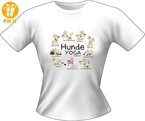 Hunde Sprüche   Yoga   Fun Lady T Shirt 100% Baumwolle   Größe M