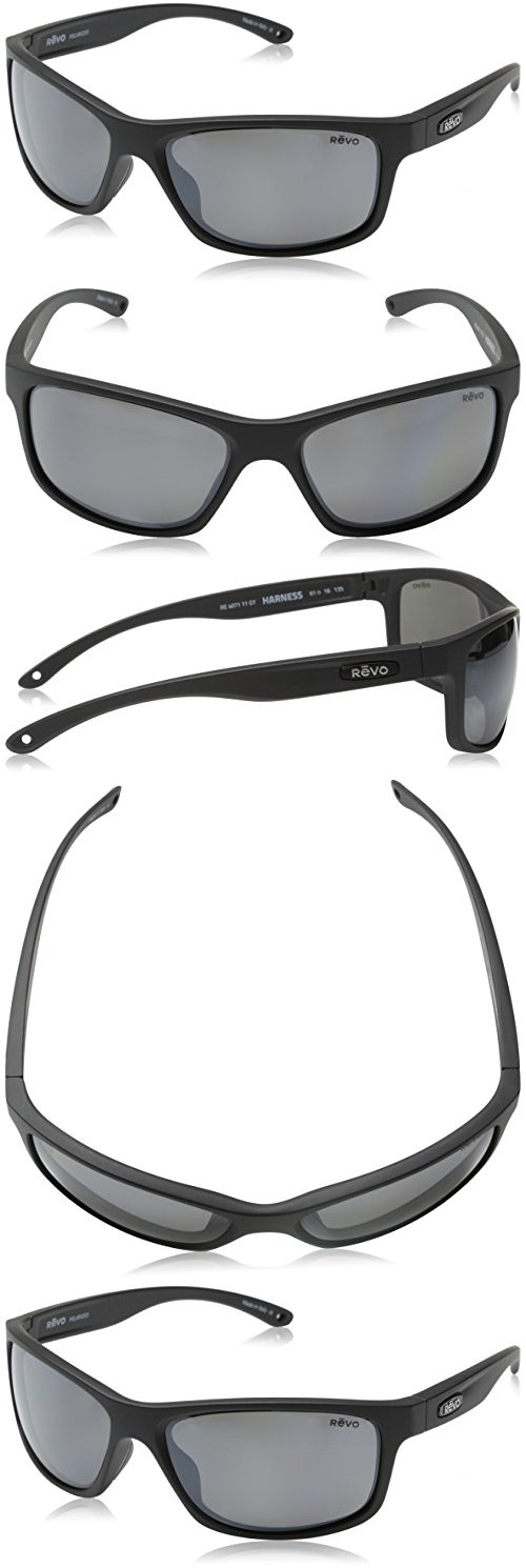 d054b3947fe Revo Harness RE 4071 11 GY Polarized Wrap Sunglasses