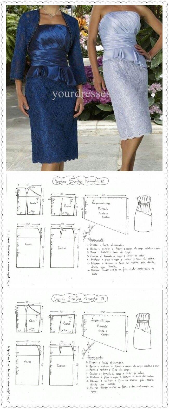 Pin de Anilasofia Gonzalez en costura | Pinterest | Patrones ...