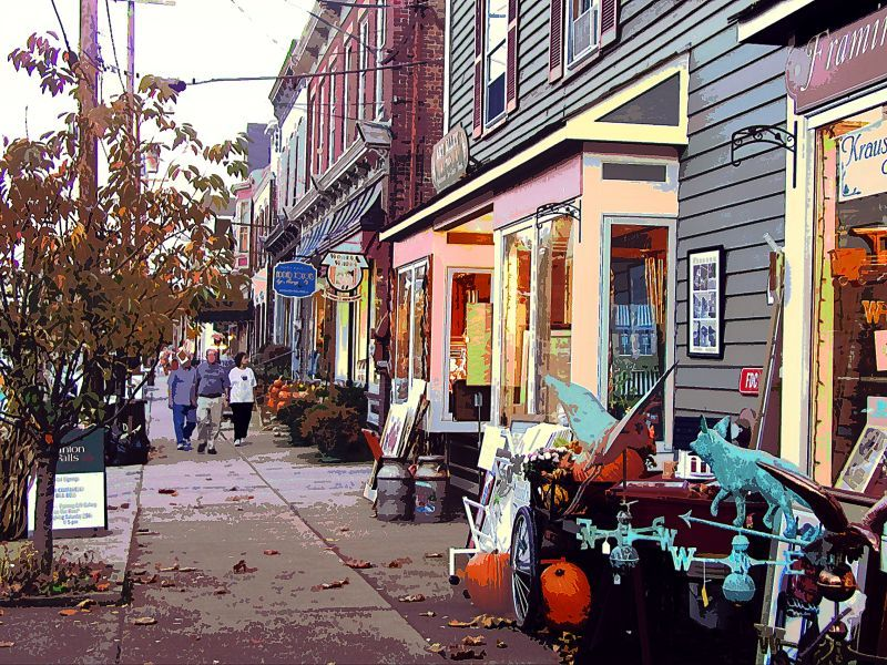 Clinton Nj View Down Main Street Another Place My Pas Took Me Too Many Times To Count Quaint Little Town
