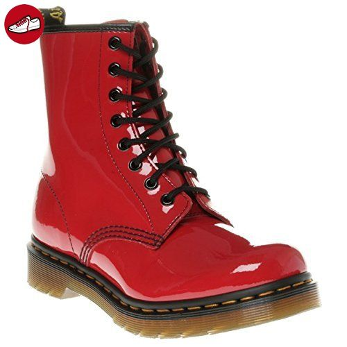 Dr. Martens 1460 Patent RED, Damen Bootsschuhe, Rot (Red