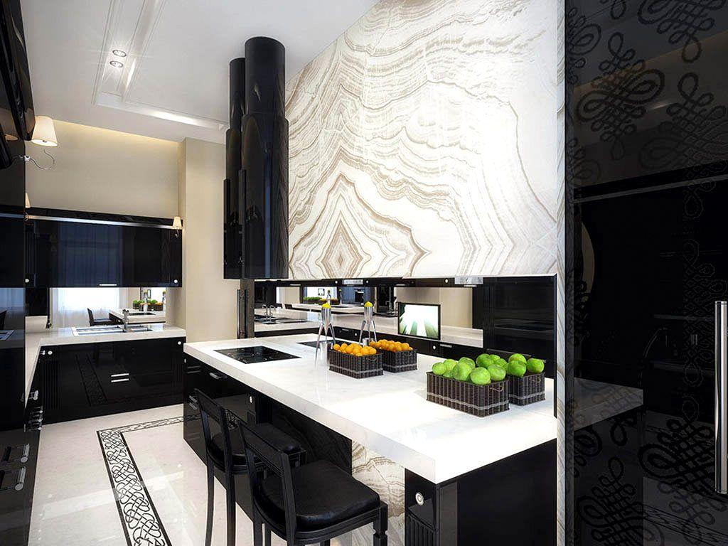 Breathtaking kitchen design idea with black kitchen cabinets and