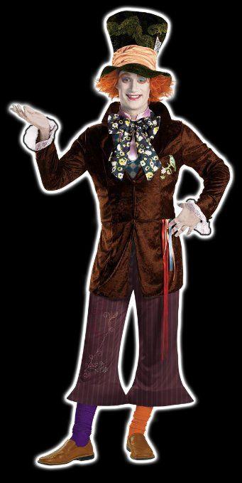 Disguise Men\u0027s Mad Hatter Prestige Costume Halloween with Tim - tim burton halloween decorations