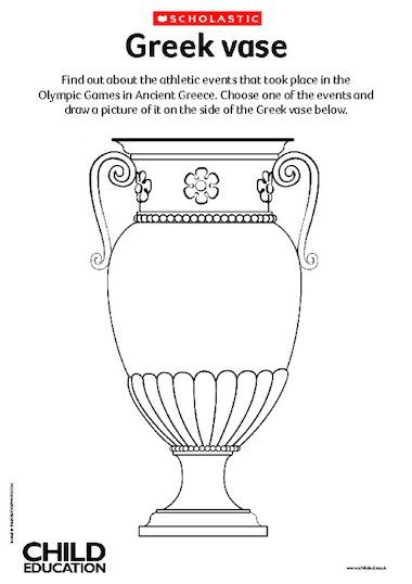 Decorate a Greek vase with images of the ancient Olympic