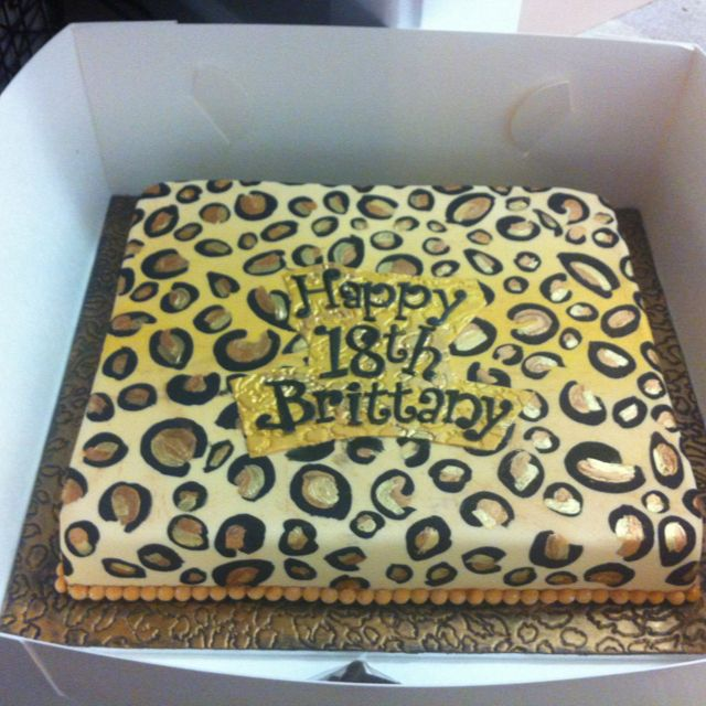 Sheet Cake Designs For 18th Birthday : Leopard print 18th birthday cake Recipes Pinterest ...