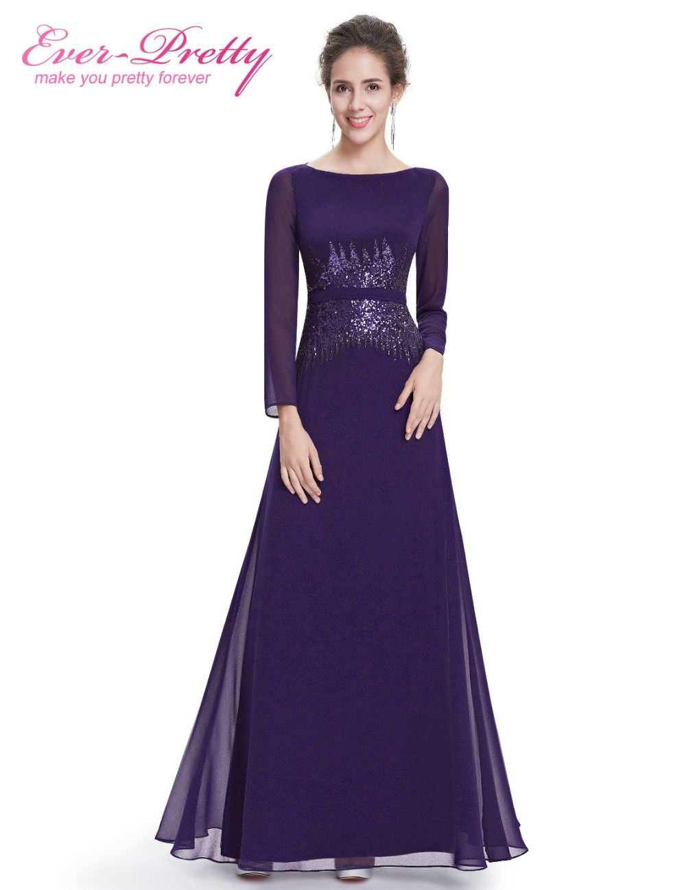 Evening dresses ever pretty hepp long sleeve navy blue sexy a