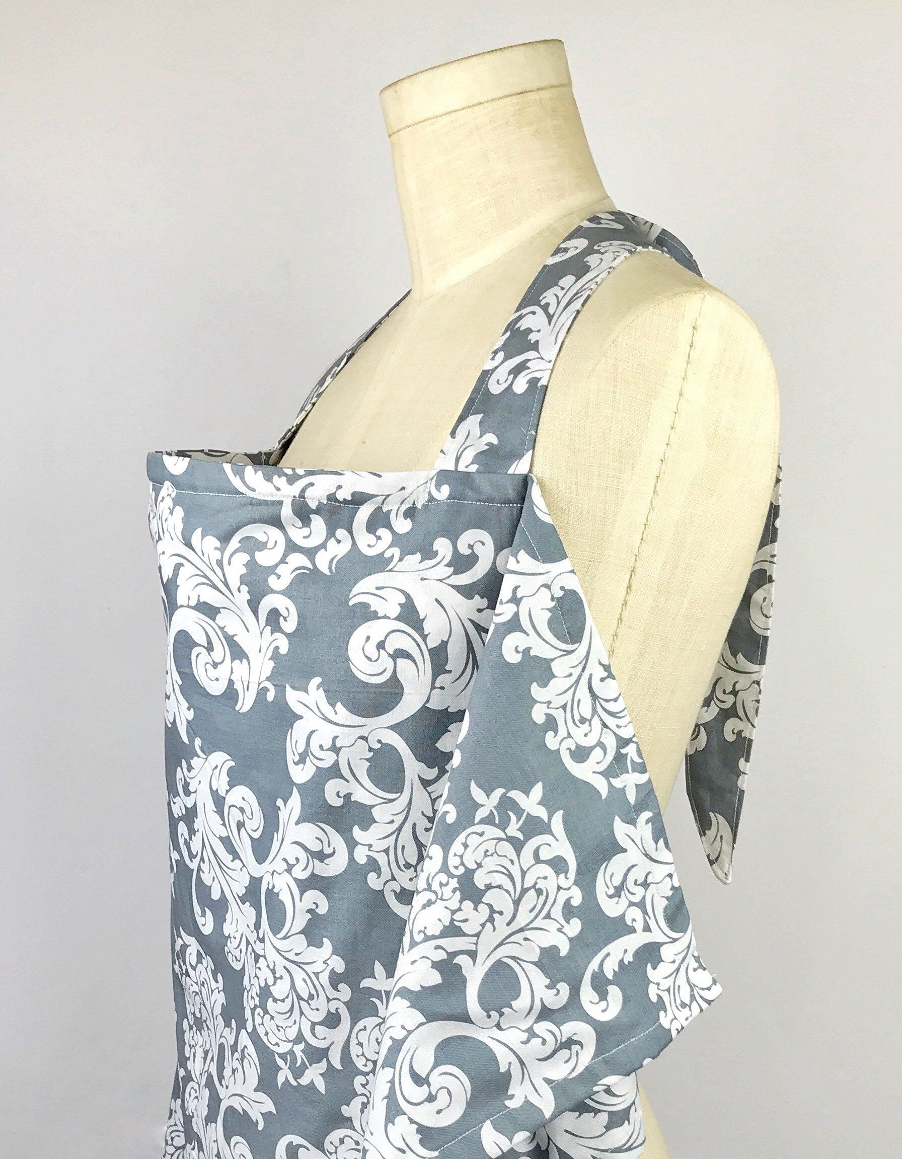 Grey Damask Print Baby Nursing Cover/Breastfeeding cover/ Baby ...