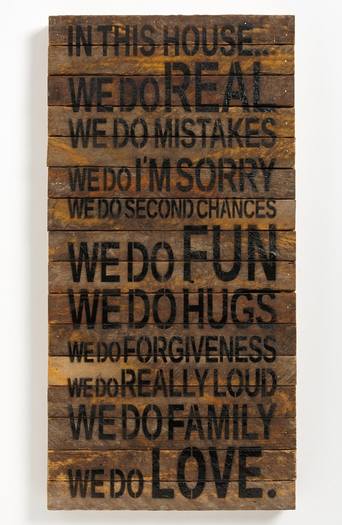 Loving this rustic wall art with the quote in this house we rustic wall art handcrafted from wood repurposed from tobacco laths found on wisconsin farms features a list of rules to keep your household fun amipublicfo Gallery