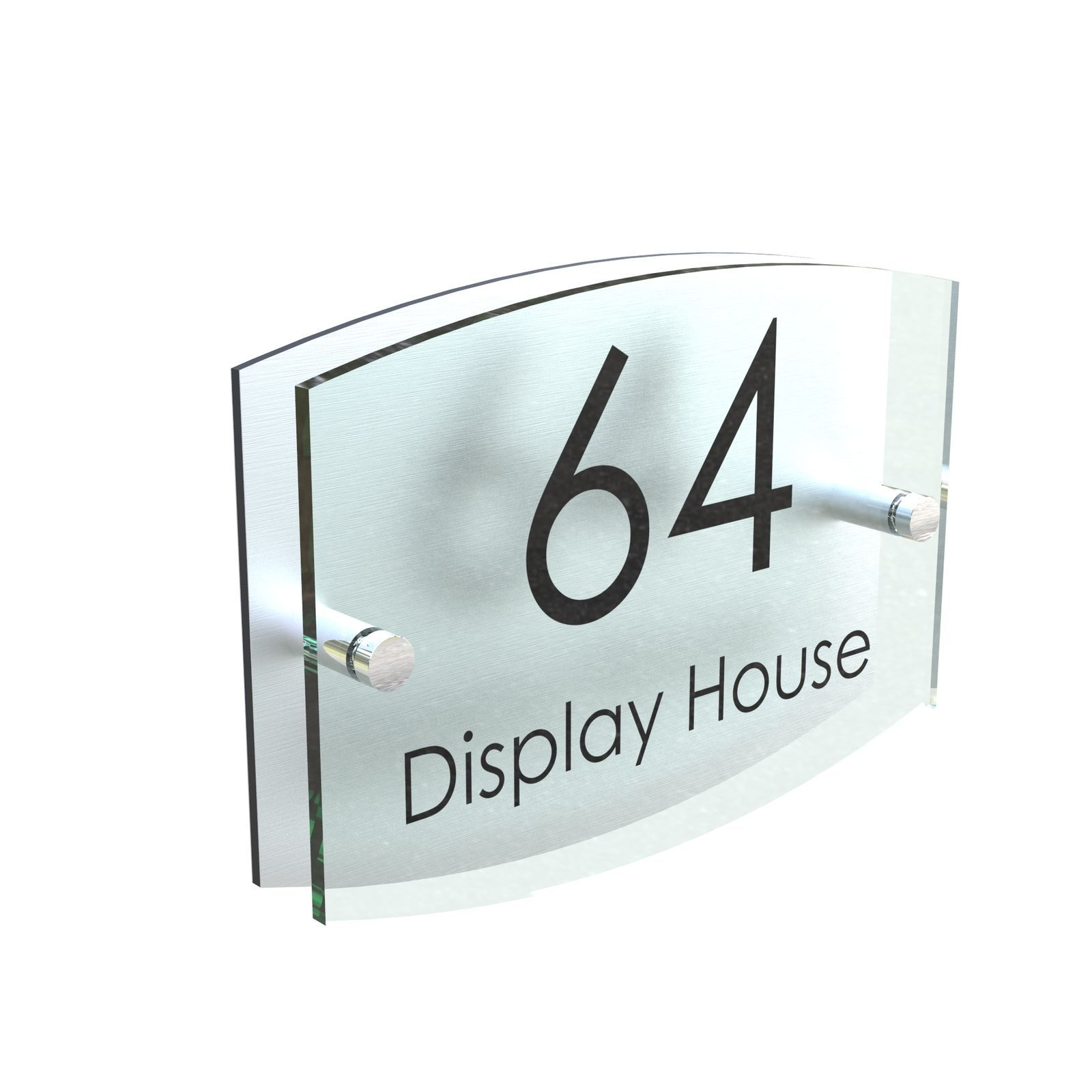 House Sign Glass Effect Door Number Plaque Acrylic Name Plate 5mm