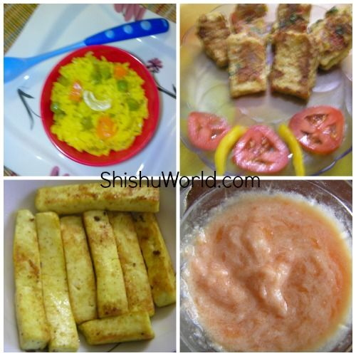 12 Month Baby Food Chart/ Indian Meal Plan For 1 Year Old