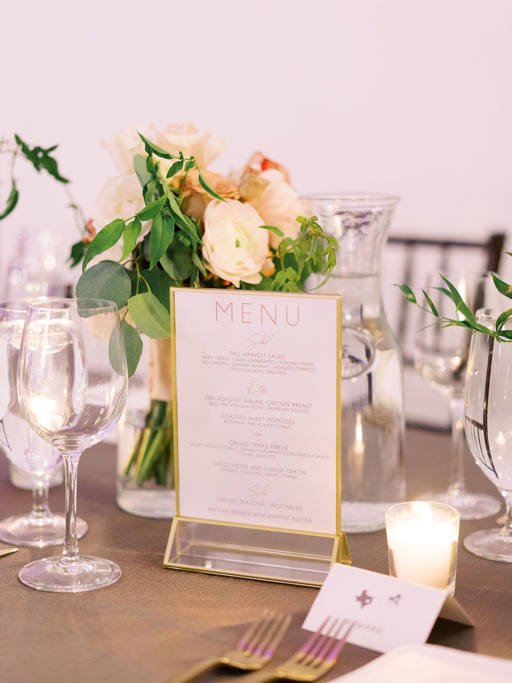 Wedding Menu By The Inviting Pear