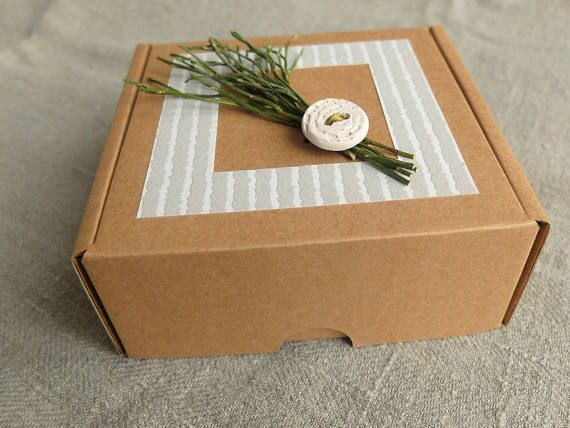 Will You Be My Bridesmaid Box Natural Cardboard Gift Box Evergreen