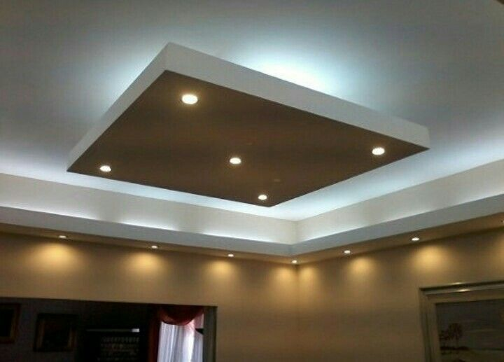 Plaf n en tono oscuro drywall y luz indirecta - Luz indirecta ...