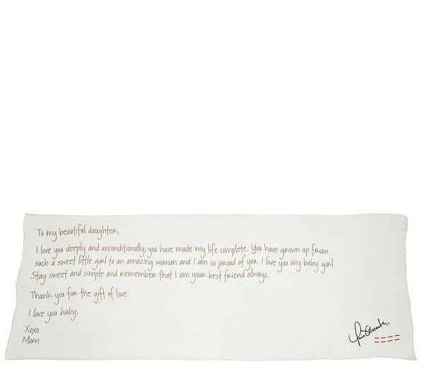 Peace Love World Love Letter Scarf Qvc Com