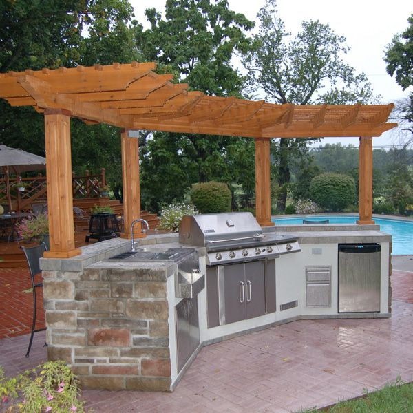 Bbq And Pergola Outdoor Kitchen Island Outdoor Grill Island Outdoor Kitchen Bars