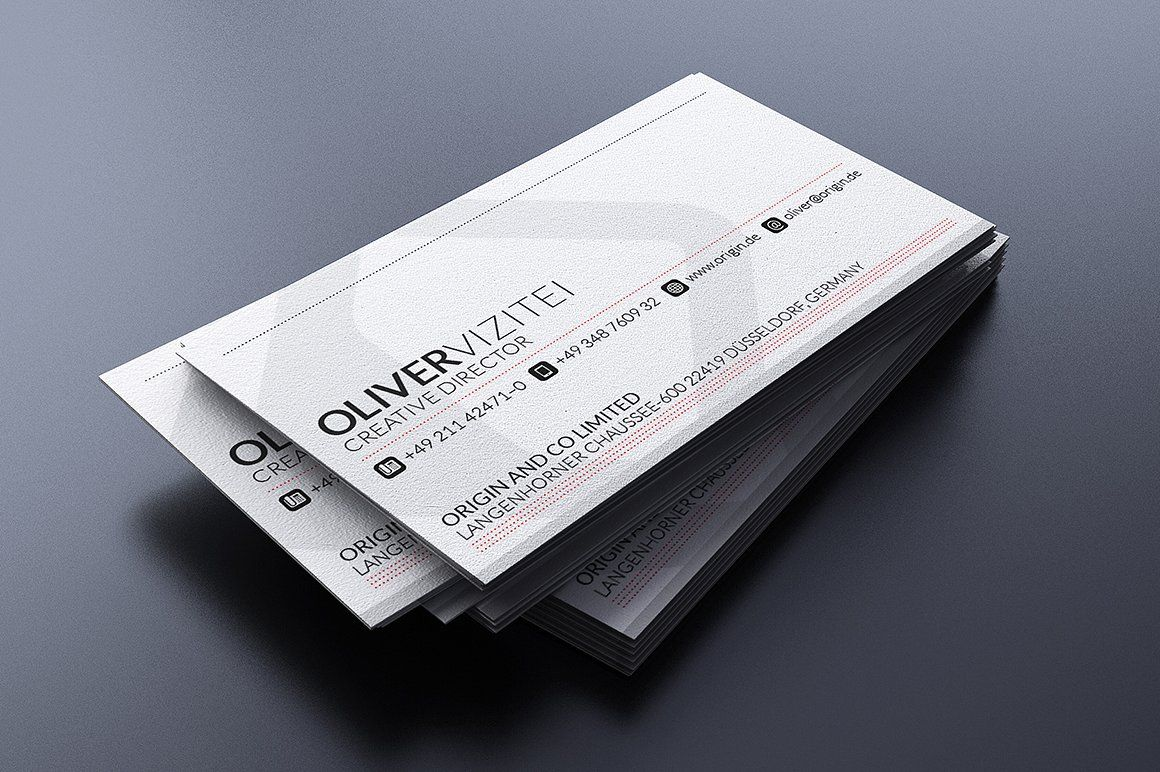 Modern Red Business Card Fonts Replaced Fonts Free Red Business