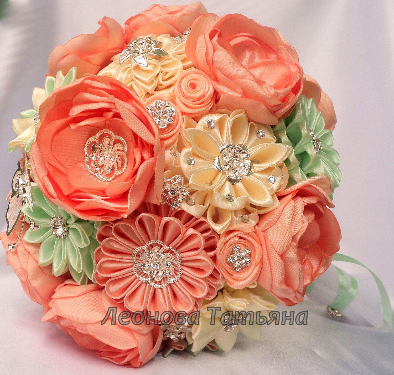 Fabric Wedding Bouquet, brooch bouquet \