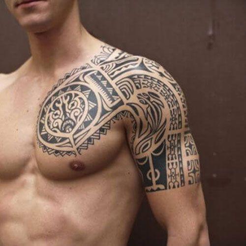 101 Best Shoulder Tattoos For Men Cool Designs Ideas 2019 Guide Cool Shoulder Tattoos Cool Half Sleeve Tattoos Mens Shoulder Tattoo