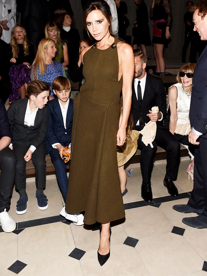 Victoria Beckham at the Burberry show in Los Angeles