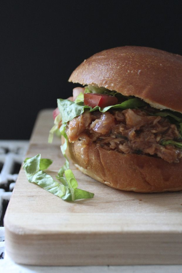 Pulled Chicken in Guava Barbecue Sauce