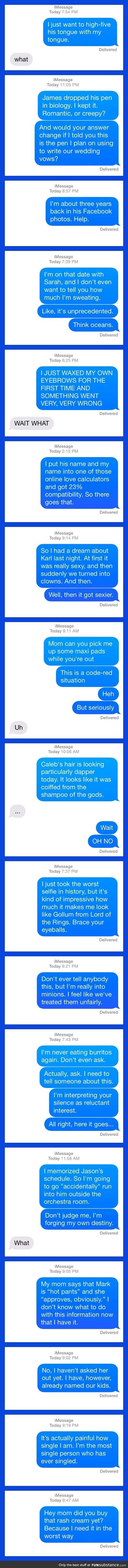 Possibly some of the worst things you could accidentally text to your crush (long post)