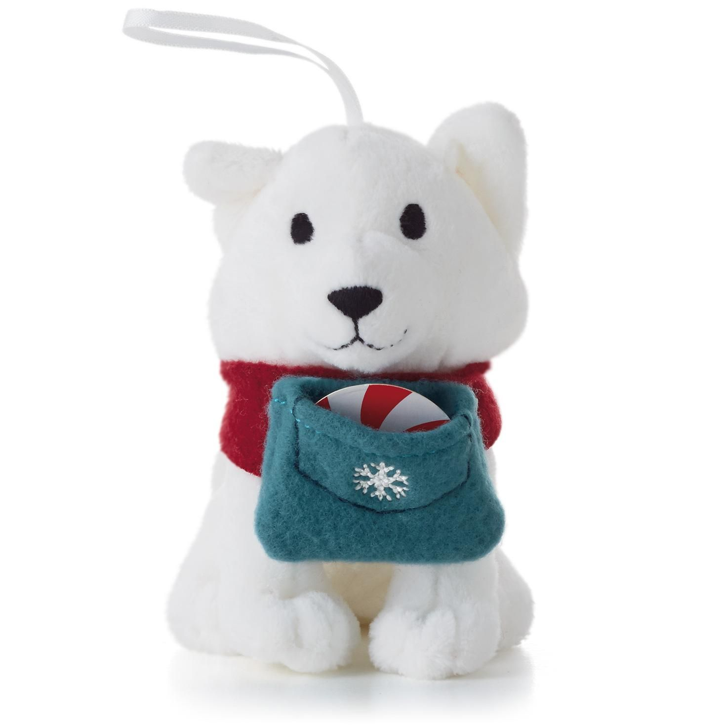 Flitter the Arctic Fox Ornament and Peppermint Holder