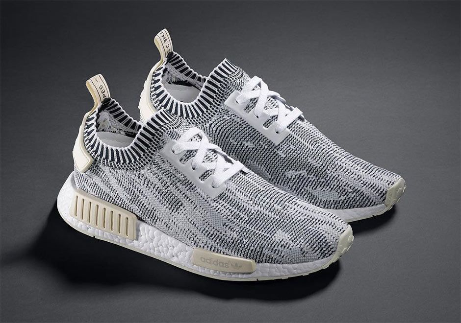 Adidas NMD Runner R1 W Cream Talc Beige Tan Knit Glitch CG2999
