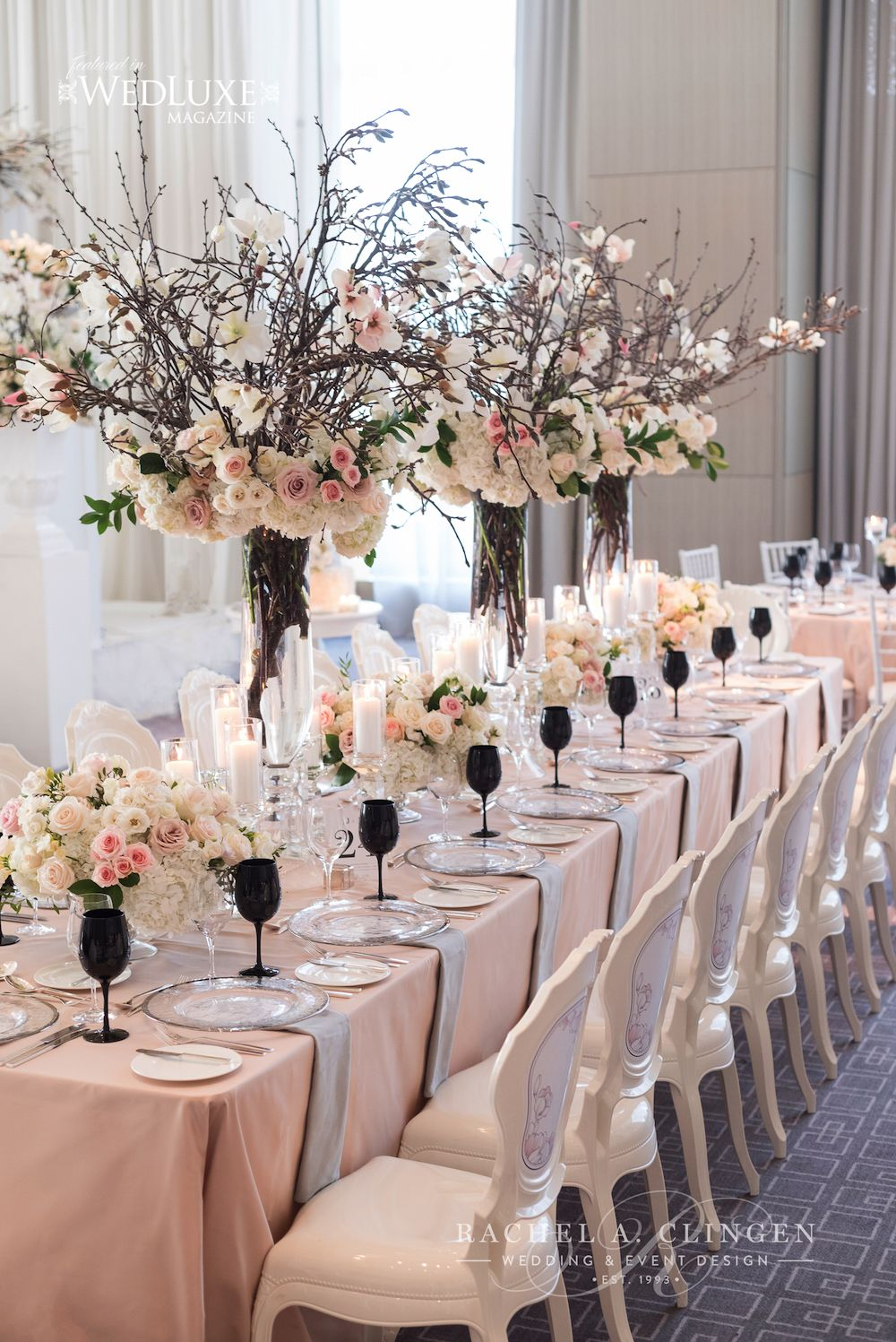 A spring magnolia wedding at the four seasons hotel for Hotel wedding decor